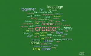 Word cloud bunt